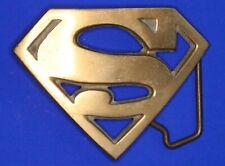 "Vintage Baron 1978 Superman ""S"" brass belt buckle *[18412]"