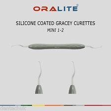 SILICONE Coated Gracey Curette MINI 1/2 Dentale Strumento numero Scaler