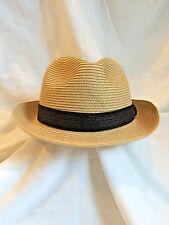 "Hat Stuff Straw Fedora Hat 24"" Mens Womens Natural Color"