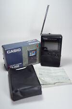 80er Vintage Casio TV 1450 LCD TV tragbarer Mini Color Retro Fernseher OVP 90er