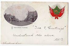 Main Street HANOVER Ontario Canada 1905 Toronto Lithographing Co. Patriotic