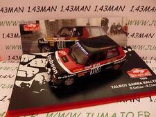 voiture 1/43 IXO altaya Rallye Monte Carlo : TALBOT SAMBA RALLYE 1983 Defour