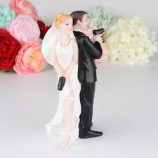 Super Sexy Spy Guns Wedding Cake Topper with Bride and Groom Fun
