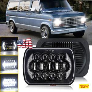 "DOT 7x6"" LED Headlight for Ford E-100 E-150 E-250 E-350 Econoline Club Wagon Van"