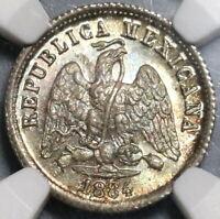 1884-Mo NGC MS 65 Mexico 10 Centavos Silver Coin POP 1/2 (20022302C)
