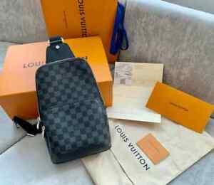 100% auth Louis Vuitton Avenue Sling Bag Canvas N41719