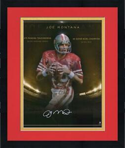 "Framed Joe Montana San Francisco 49ers Signed 16"" x 20"" Golden Years Photo"