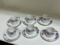 VINTAGE Noritake Demitasse Cups & Saucers Set of 6 Made in Japan