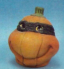 "Ceramic Bisque Ready to Paint Teenage Mutant Ninja Turtle Small Pumpkin 4"" tall"