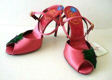 ROGER VIVIER Paris (£1500 RRP) Pink Satin & Leather Sandals Size 36.5 - New