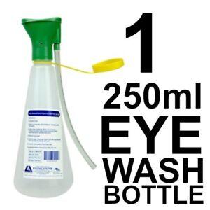 1 x Eye Wash Irrigation Plastic Bottle 250ml First Aid