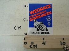 STICKER,DECAL EEMSHAVEN WEGRACE KONINGINNEDAG 29 EN 30 APRIL