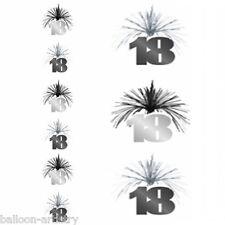 Bilanciere nero e argento 18A Cascata Compleanno Colonna Decorazione