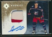 2019-20 Upper Deck Ultimate Collection Rookies Patch Auto Alexandre Texier /49