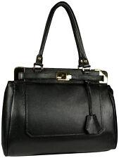 Made in Italy Elegante Leder Tasche Handtasche  Schwarz,  Italien