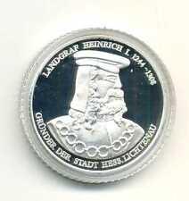 Medaille Landgraf Heinrich I gründer der Stadt Hess. Lichtenau Silber 999 M_672