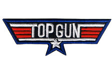 LARGE TOP GUN IRON ON CLOTH BADGE US Flight school bag jacket Airforce patch