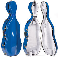 Bobelock 2000W Blue Fiberglass 4/4 Cello Case - Wheels