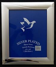 "Silver Plated Picture Frame 8""x10"""