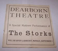 Summer 1901-02 Program-Dearborn Theatre-Chicago Illinois-The Stork-Great Ads