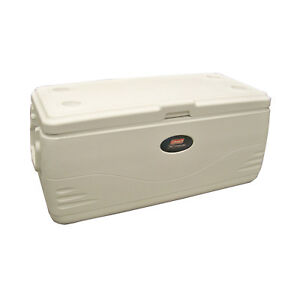 Coleman Cooler Camping Chest 5 Day Ice Retention Food Drink Marine 150-Quart