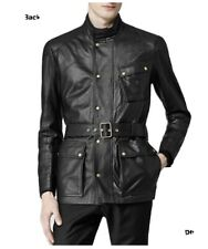 Reiss Patriot Belted Leather Jacket M/40R