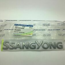 SsangYong Chrome Rear Boot Badge Emblem Rexton Kyron Actyon Rodius New Genuine