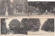 Lot 4 cartes postales anciennes CHÂLONS-SUR-MARNE jardin du jard 1