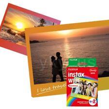 20 Photos Fujifilm Instax Wide Film Rainbow for Wide 300 200 210 Instant Camera