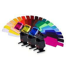 20pcs Set diffusore Flash Pro Photo Illuminazione Gel colore carta filtro corretto pop up