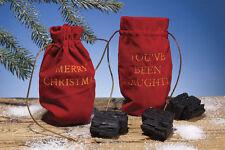 Christmas Santa's Gift Bag of Coal Lumps Decor Holiday Gag Gift Funny Joke