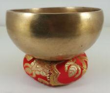 C078 New Himalayan Handbeaten Singing Bowl (D# & A ) 0.28kg 4 inches Sacral & Th