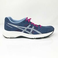 Asics Womens Gel Contend 5 1012A231 Blue Running Shoes Lace Up Size 7 Wide