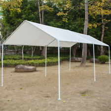10'x20' Portable Carport Garage Car Shelter Steel Canopy Tent Parking Shed White