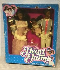 1985 Heart Family Mom & Dad & Babies AA doll giftset NRFB Barbie Steffie face