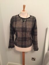 Top Shop Size 14 Checked Jumper