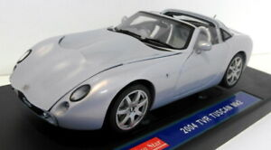 Sunstar 1/18 Scale Diecast - 4462 2004 TVR Tuscan Mk2 Spectra Flair Silver