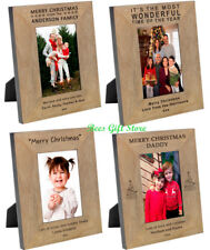 PERSONALISED Wooden  CHRISTMAS Picture PHOTO FRAME Gifts Ideas for Home Family