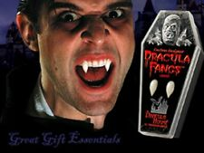 DRACULA FANGS CUSTOM VAMPIRE TEETH Adult LARGE Costume Coffin Twilight Blood Men