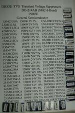 78pcs KIT SET Diode TVS TRANSIL SMCJ 1500W   26 values x 3pcs  GS-VISHAY