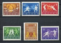 35702) Poland 1963 MNH World Fencing Championships 6v