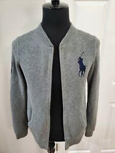 Polo Ralph Lauren Big Pony Zip Down Knit Sweater Boys XL (18-20)