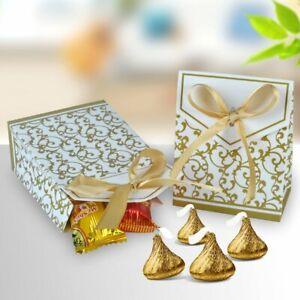 100x Hochzeit Geschenkbox Gastgeschenk Schokolade Candy Box Bonbons Schachtel