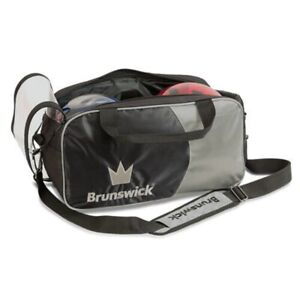 Brunswick Crown 2 Ball Tote Bowling Bag Silver