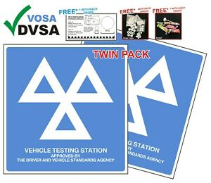 2 X OFFICIAL MOT SIGNS PACK  | MOT SIGN | MOT SIGNS | MOT SIGN PACK | VOSA DVSA
