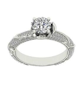 SI1 G 1.70 Ct Solitaire Engagement Wedding Genuine Diamond Ring 14K White Gold