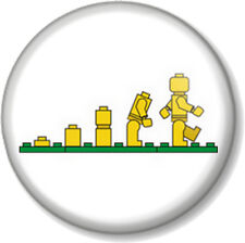 "Lego Evolution 1"" 25mm Pin Button Badge Novelty Message Geek Toy Funny Design 2"