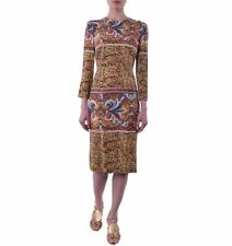 Viscose Regular Dry-clean Only Geometric Dresses for Women