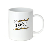 Coffee Cup Mug Travel 11 15 Birthday Limited Edition Made Born In 1961
