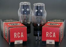 RCA 2A3 matched Vintage 2 Vacuum Tubes Made in USA with Gray Plate NOS